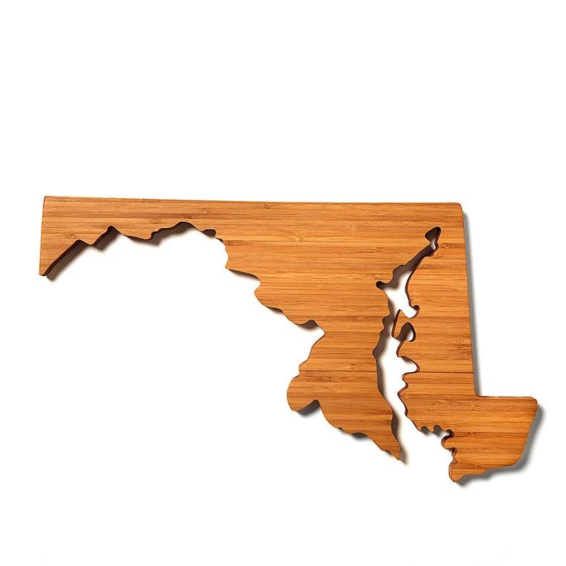 Maryland Cutting Board Maryland Board Custom Cutting Board Engraved Board Personalized Board Wood Cutting Board Maryland Gift