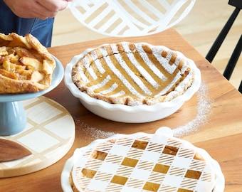 Graphic Pie Dusting Set - Text Pie Dusting Set - Thanksgiving Pie Stencil
