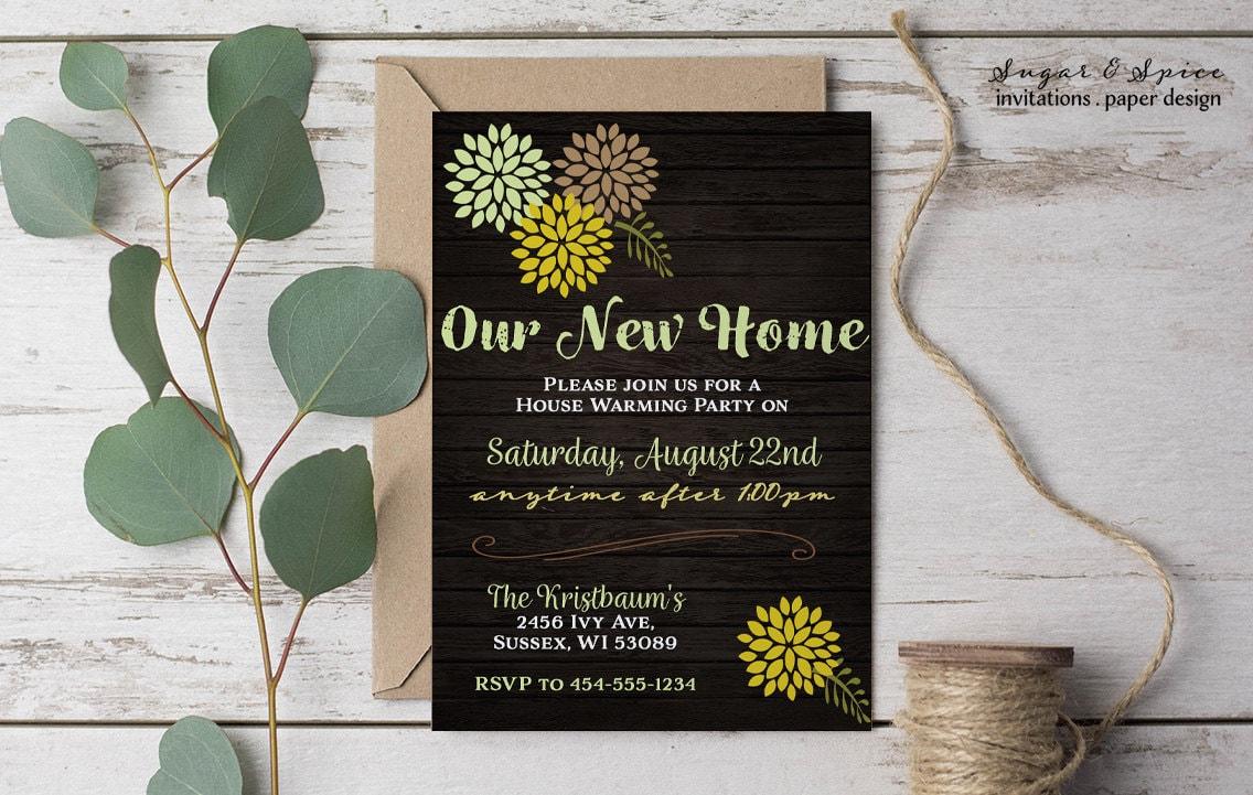 Rustic Housewarming Invitation Printable Housewarming Party Etsy
