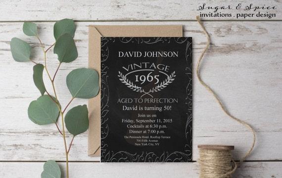 aged to perfection birthday invitation 50th birthday etsy