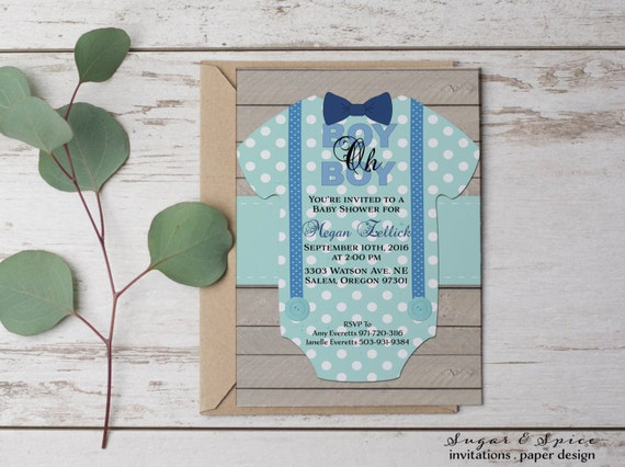 photo relating to Printable Onesie Baby Shower Invitations identified as Rustic Youngster Shower Invitation Boy, Youngster Shower Invitation
