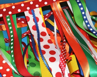 Circus Party Garland, Carnival Party, Big Top, Ready to ship, Rainbows, Unicorn Party, Christmas, Holidays, Clown, Rainbow Party,