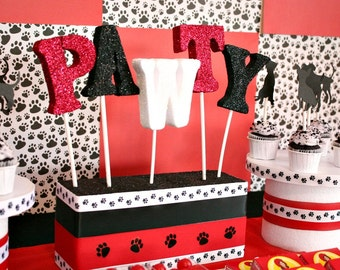 Puppy Party, Adopt a Puppy, Pet Party, Paws, Dog Party, Puppy, Puppy Decor, Dog Decor, Puppy Theme, Puppy Decorations, Let's Pawty, Woof