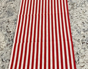 Stripes Table Runner, Candy Cane Party, Carnival Party, Table Runners, Table Linens, Stripes, Peppermint, Red and White Stripes, Table Decor