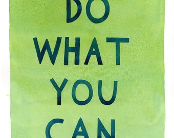 Do What You Can print