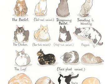 Cat Shapes print