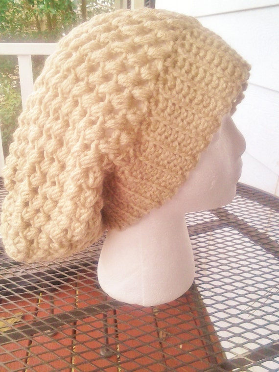 SLOUCHY HAT Bubble Stitch long hat  aeec7019ab8