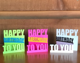 12 Happy Birthday Mini Folded Cards