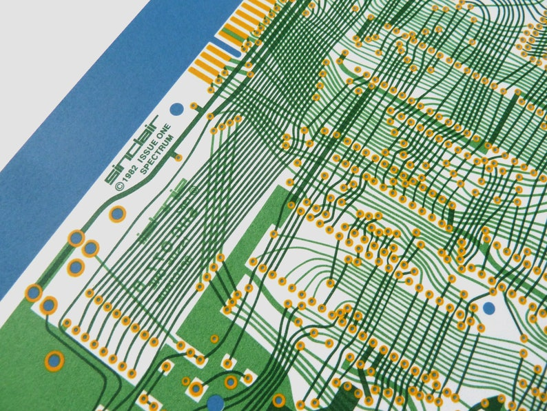 Sinclair ZX Spectrum Issue One screen print yellow greens and image 0