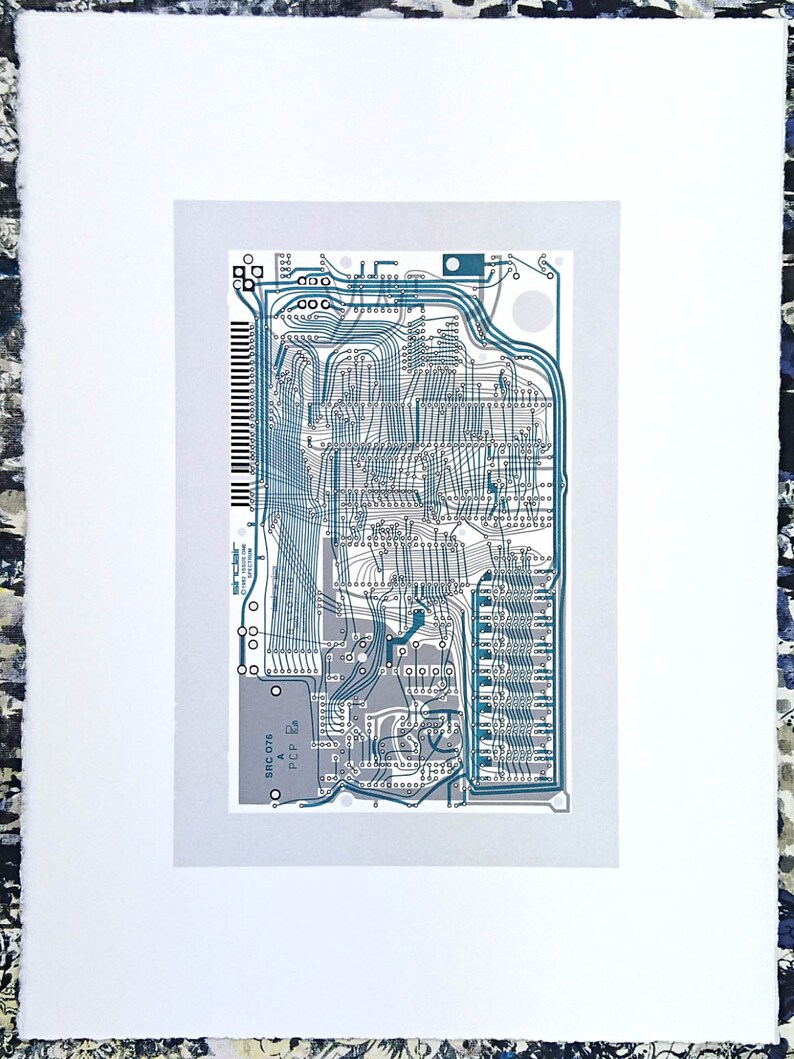 Sinclair ZX Spectrum Issue One screen print monochrome blue image 0