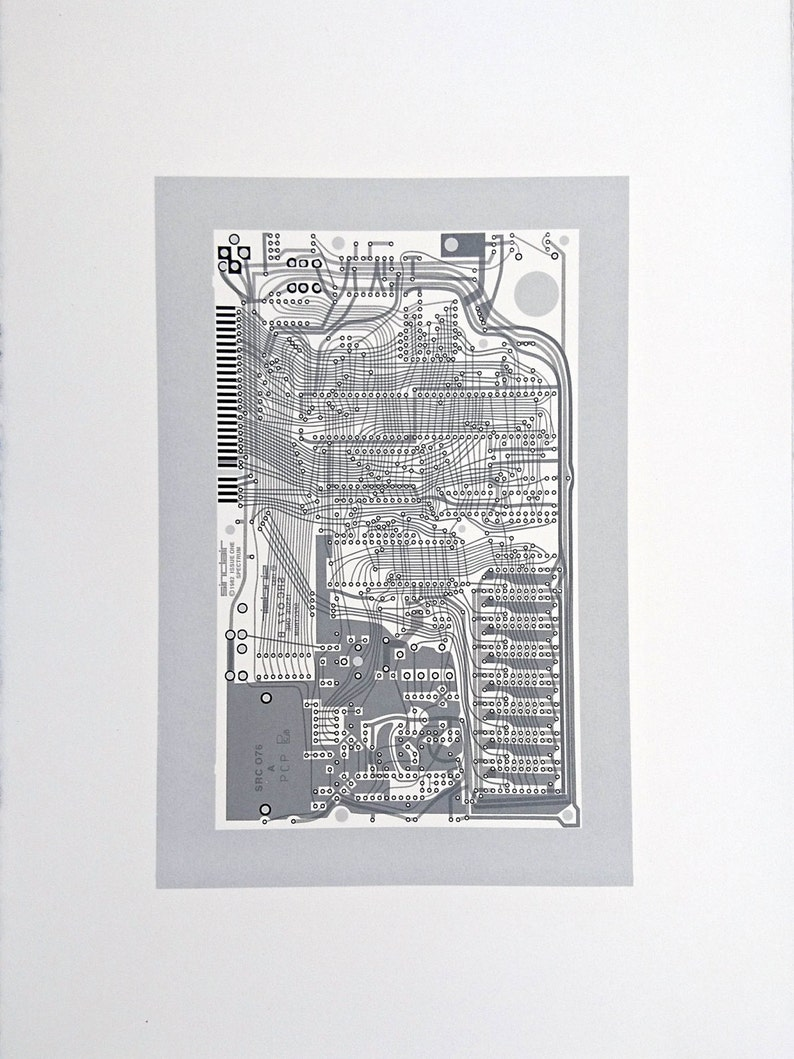 Sinclair ZX Spectrum Issue One screen print monochrome greys image 0