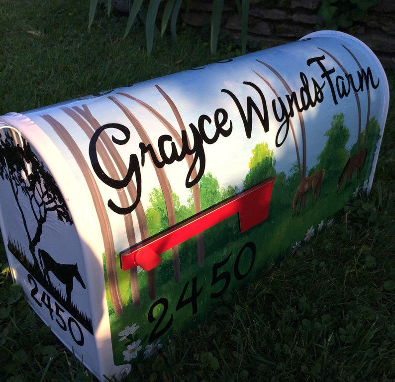 painted on both sides Hand Painted Rural Mailbox