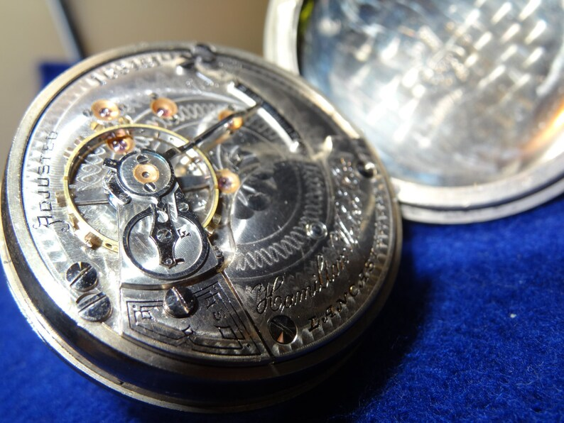 9c8e2c7e68958 Huge Hamilton 18 Size 17 Jewels Model 927 Pocket Watch