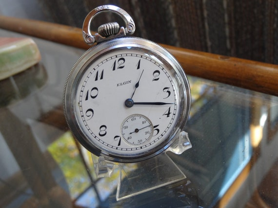 Vintage Elgin 18 Size 7 Jewels Pocket Watch-Just S