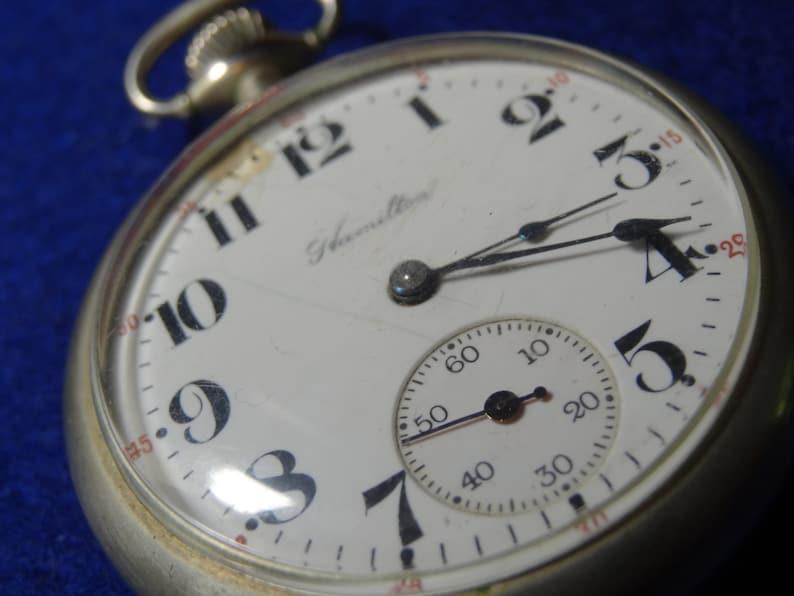 92f6d7a46dec0 Vintage 974 Model Hamilton 17 Jewels Pocket Watch-Serviced