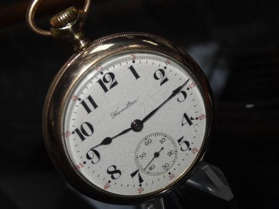 23a6d0170d3db Hamilton 17 Jewels 16 Size Model 974 Pocket Watch In A GF Case-Serviced