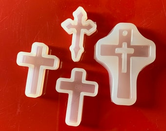 UV resin- Halloween theme - resin Shiny Cross silicone resin mold 5 styles available