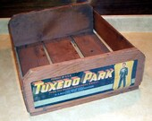 Vintage Tuxedo Park Advertising Box, Fruit Packing Box, Label On End of Box, Advertising Fruit orchard, Farm , Orchard Produce, rustic farm
