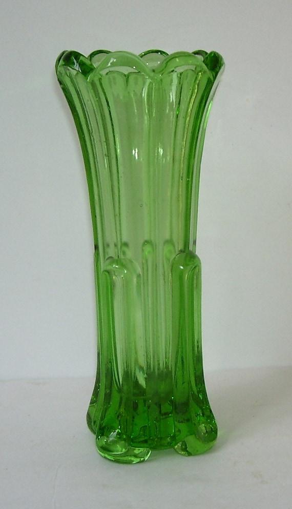 Modern Art Green Tall Glass Vase Elegant Glass Wedding Gift Etsy