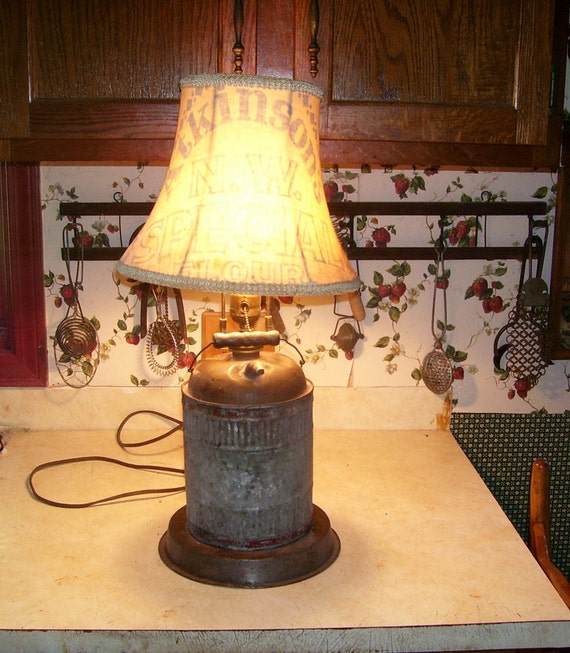 Antique Gas Can Lamp with Atkinson's