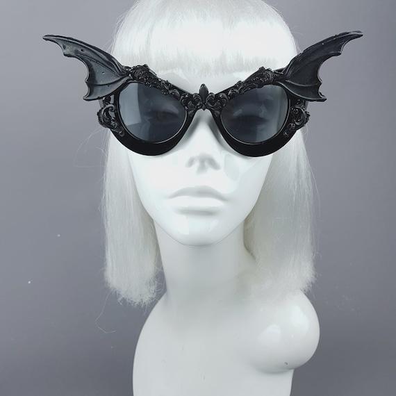 b2d0dce5a8c Bat Wing Filigree Catseye Sunglasses Vampire Gothic Goth