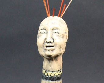 whimsical ceramic figurative sculpture hand made original art