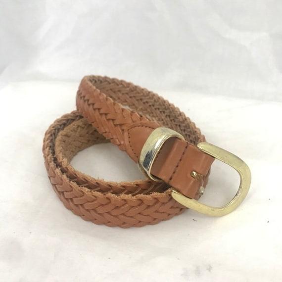 Belt Stretch Braided Belt Tex Tan Color White size Medium NWT Vintage Belt  Braided Adjustable
