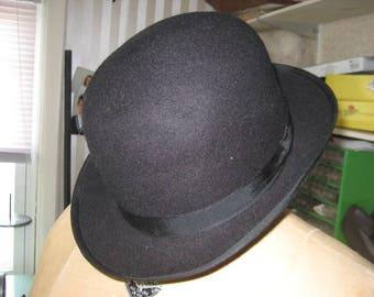 4c14b254e16 VintageBowler English Gentleman s Bowler  100% Wool Felt Hat Bowler Size XL