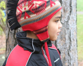 Mohawk Hat - Dine Red