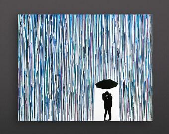 melted crayon art umbrella
