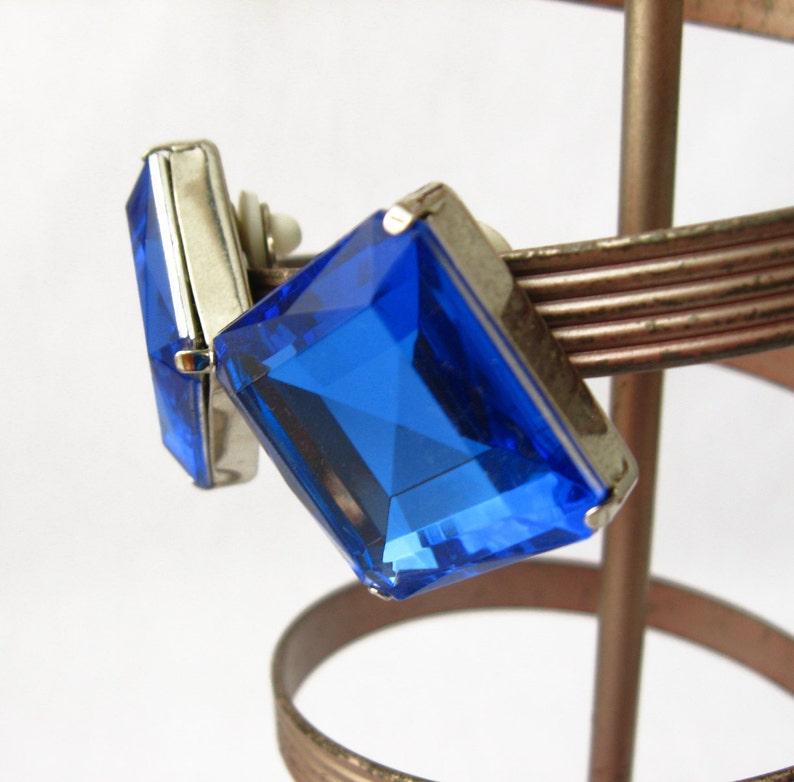 Cornflower Blue Earrings Silver and Blue Earrings Blue Glass Earrings Blue Diamond Earrings Blue Gemstone Earrings Blue and Silver