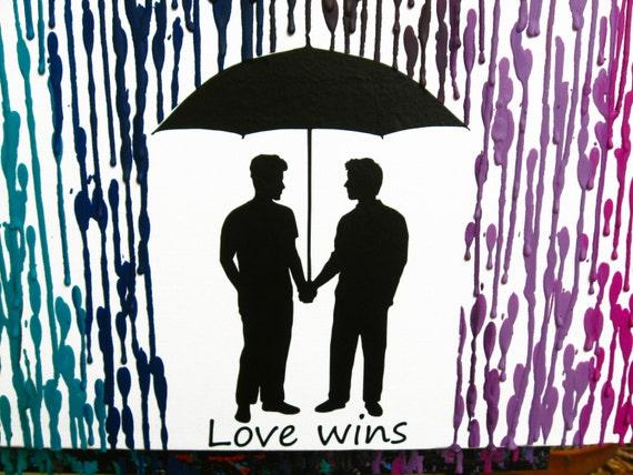 Love Wins Ornament LGBT Housewarming Gift Engagement Gift Gay Pride Celebrate Pride Lesbian Rainbow Gay Gift Pride Gift