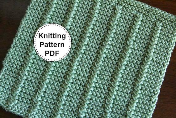 Knitting Pattern Dishcloth Pattern Knitted Dishcloth Etsy