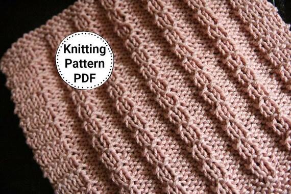 Knitting Pattern Dishcloth Pattern Knit Dishcloth Pattern Etsy