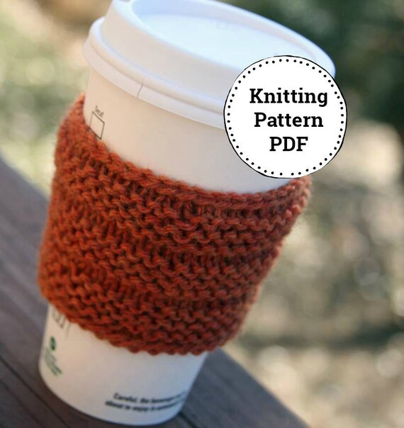 Knitting Pattern Corrugated Cup Sleeve Cozy Pattern Etsy