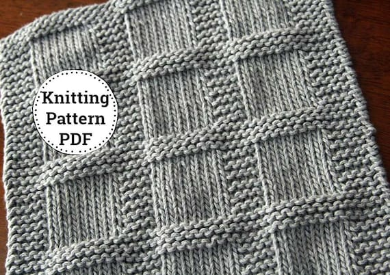 Knitting Pattern Dishcloth Pattern Washcloth Pattern Etsy