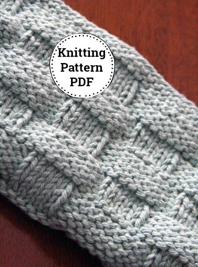 Knitting Pattern | Dishcloth Pattern | Knitted Dishcloth | Mom and ...
