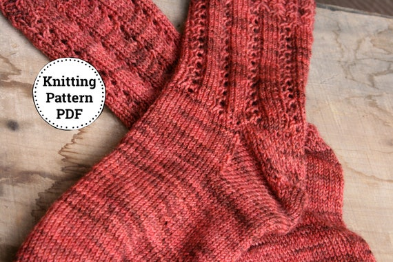 Strickanleitung Socke Muster Gestrickte Socke Muster Von   Etsy