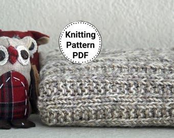 Knitting Pattern Baby Blanket | Knitting Pattern | Baby Blanket Pattern | Stroller Blanket Pattern |  Knitted Afghan