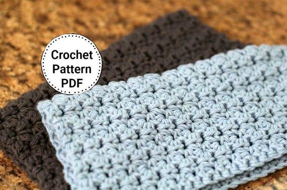 Easy Crochet Dishcloth Pattern Knitting Pattern Omaha Etsy