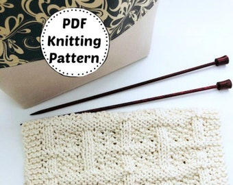 Knitting Pattern | Dishcloth Pattern | Knitted Dishcloth | Instant Download Dishcloth Pattern | Buttercup | Knitting Pattern | Easy Pattern