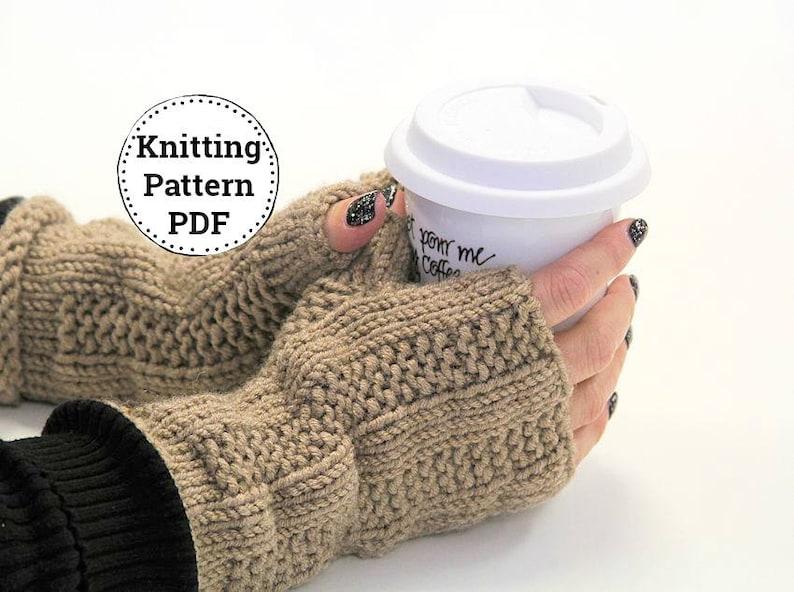 ee735db8b6d9aa Knitting Pattern Fingerless Gloves Fingerless Mitts Pattern