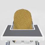 White Beans on Mustard // IKEA Antilop Highchair Cover // High Chair Cover for the KLÄMMIG or PYTTIG Cushion // Pillow Slipcover