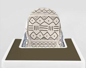 Bone Mudcloth // IKEA Antilop Highchair Cover // High Chair Cover for the KLÄMMIG or PYTTIG Cushion // Pillow Slipcover