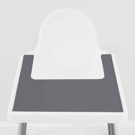Charcoal Grey Ikea Antilop Highchair Silicone Placemat