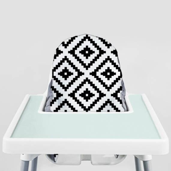 Pleasing Black Aztec Ikea Antilop Highchair Cover High Chair Cover For The Klammig Or Pyttig Cushion Pillow Slipcover Short Links Chair Design For Home Short Linksinfo