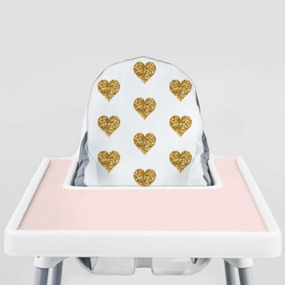 Wondrous Gold Glitter Hearts Ikea Antilop Highchair Cover High Chair Cover For The Klammig Or Pyttig Cushion Pillow Slipcover Short Links Chair Design For Home Short Linksinfo