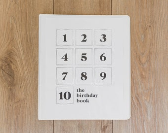 The Birthday Book - Printable PDF