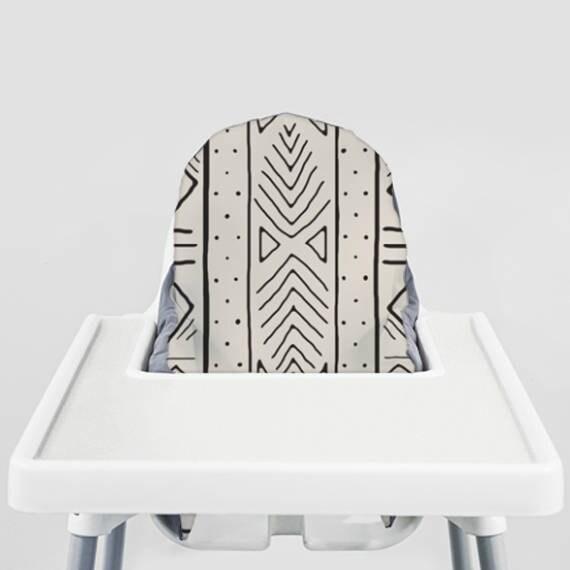Bone Mudcloth Ikea Antilop Highchair Cover High