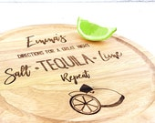 Personalised chopping board for the Tequila lover! Chop limes in style, customised with the name of your choice.  Cutting board gift